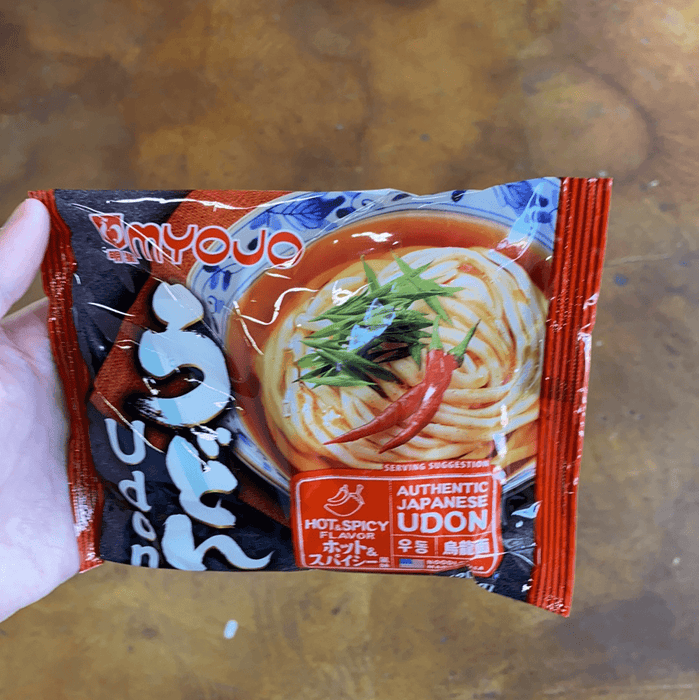 Myojo Udon with Soup Hot and Spicy, 7.22oz - Eastside Asian Market