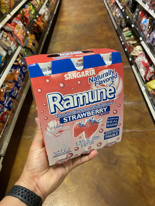 Sangaria Ramune Strawberry, 6pk - Eastside Asian Market