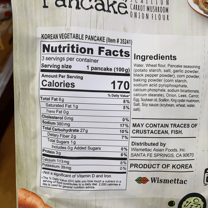 Shirakiku Vegetable Pancake, 10.58oz - Eastside Asian Market