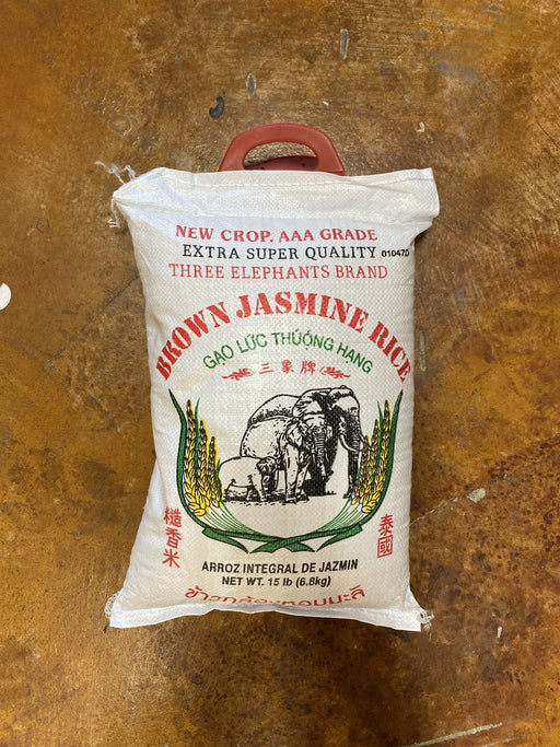 Three Elephant Brown Jasmine Rice - Eastside Asian Market