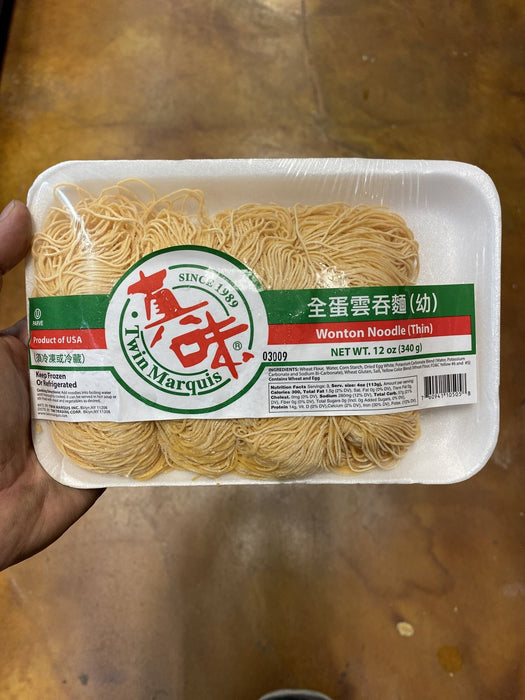 Twin Marquis Wonton Noodle - Thin, 12oz - Eastside Asian Market