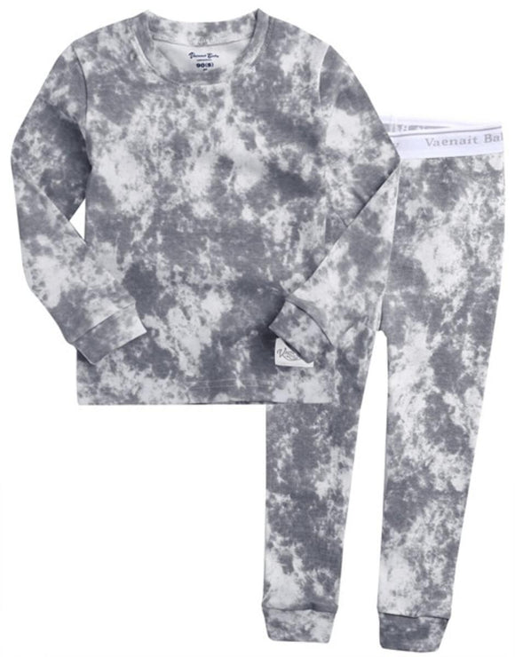 Light Grey Tie Dye Pajama