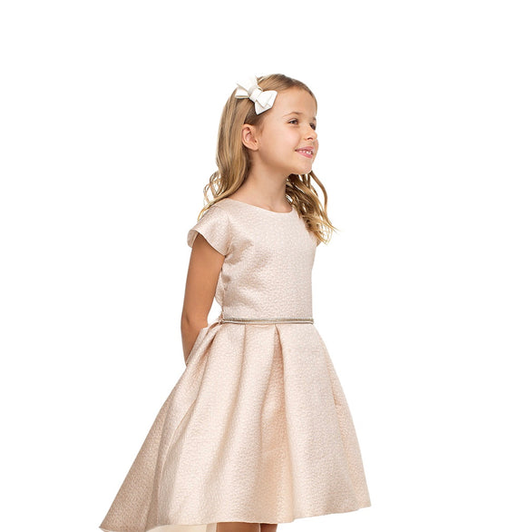 Girls Rose Gold Hi-Low Dress