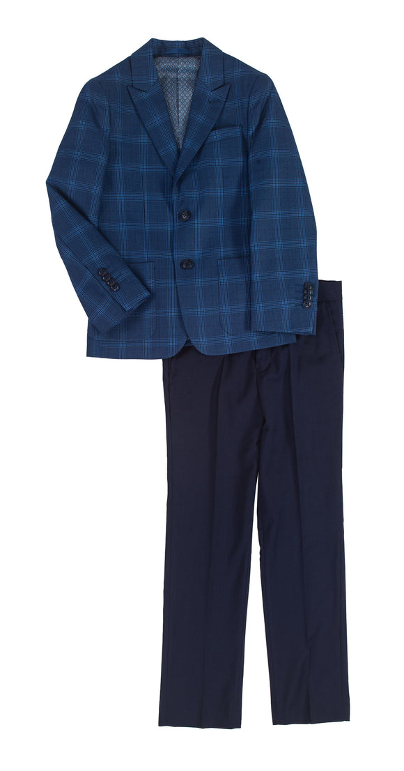 Isaac Mizrahi Blue Plaid Suit
