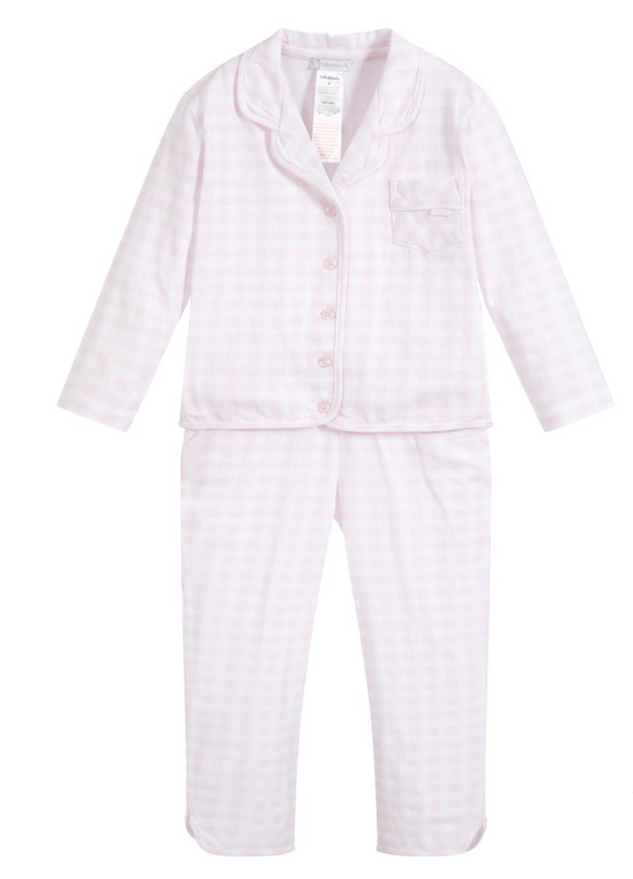 Tutto Piccolo Girls Checkered Pajama