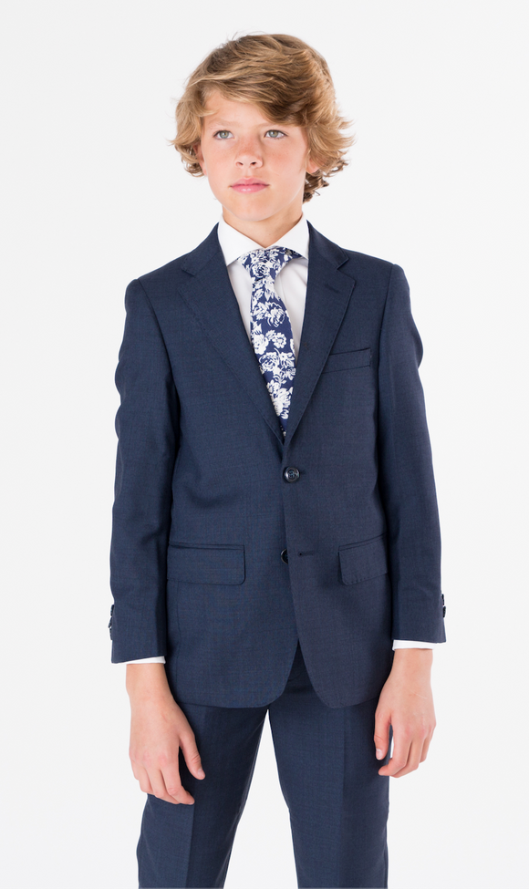 T.O. Collection Birdseye Blue Suit