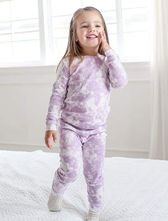Purple Tie Dye Two Piece Pajama