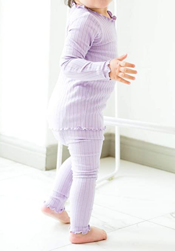 Girls Ribbed Shearing Pajama