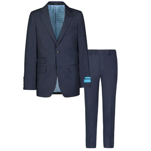 T.O. Collection Heather Blue Suit
