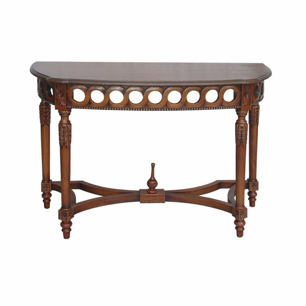 Neoclassical Demilune Console Table