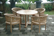 Tosca Curve 5-pc Dining Table Set