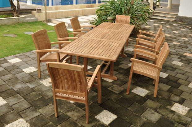 Bahama Sahara 9 pc Dining Table Set