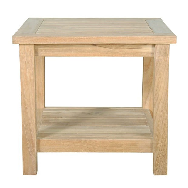 "Bahama 22"" Square Side Table 2-Tier"