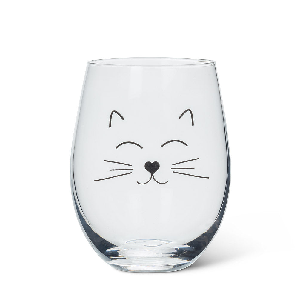 Cat Face Stemless Goblet