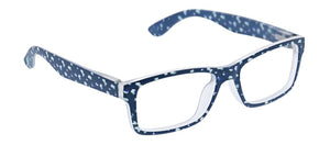 Dappled Dot Focus - Navy- Reading Glasses