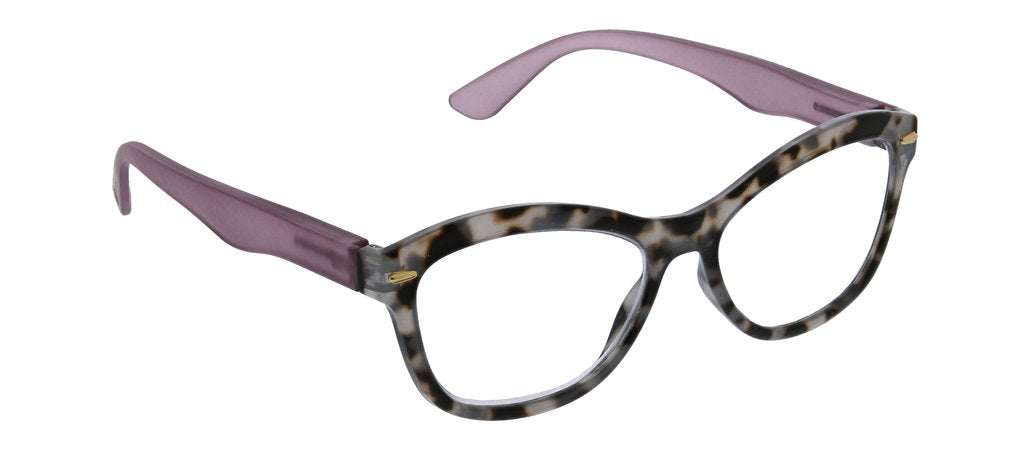 Monterey Bay Focus - Gray Tortoise & Purple Reading Glasses