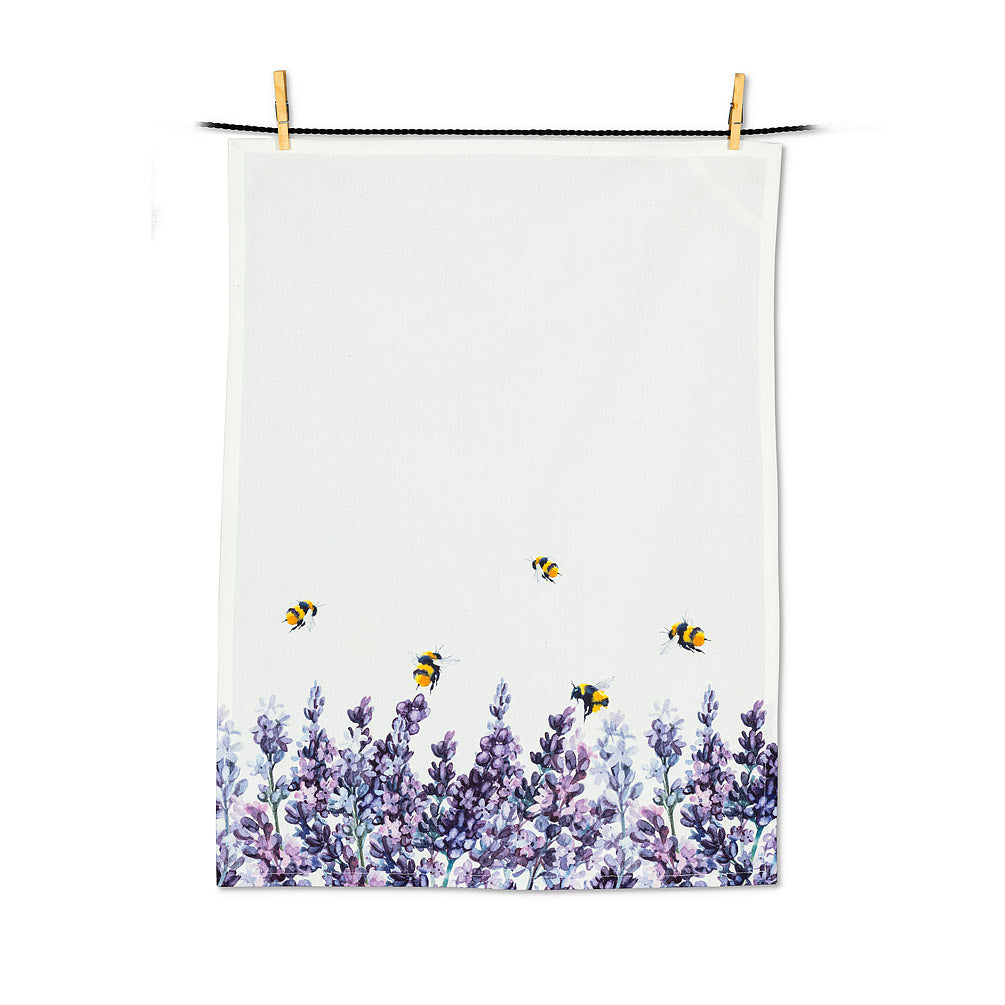 Lavender & Bees Tea Towel