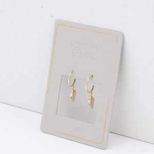 Everly Heart Hoop Earrings - Gold