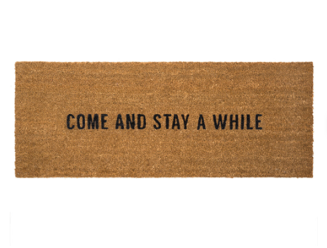 Stay A While Doormat