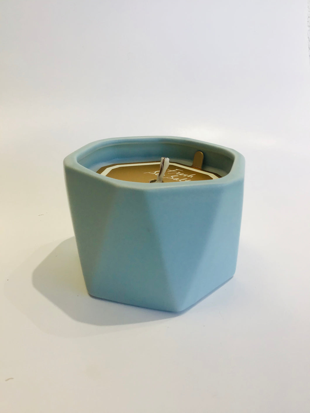 Fresh Sea Salt Ceramic Candle