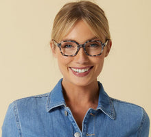 Load image into Gallery viewer, Jet Set - Grey Tortoise Reading Glasses