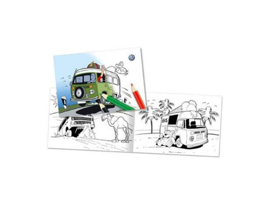 VW A5 Colouring Book with T1 and T6 Designs
