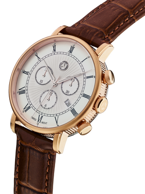 Mercedes-Benz Men's chronograph watch, Classic Retro Gold