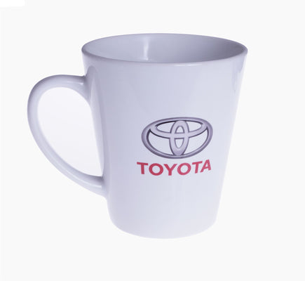 Toyota White Ceramic Mug Coffee Cup Tea Logo Novelty Gift