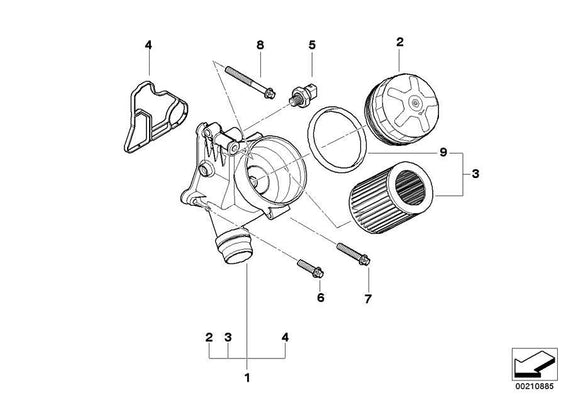 BMW Genuine Oil Filter Cover
