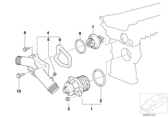 BMW Genuine Waterpump Thermostat O-Ring 0X3,5
