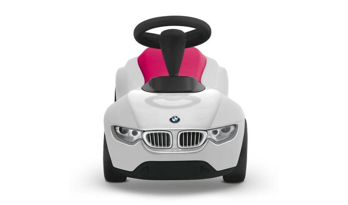 BMW Genuine Baby Racer III Kids Ride On Push Toy Car White Berry Red