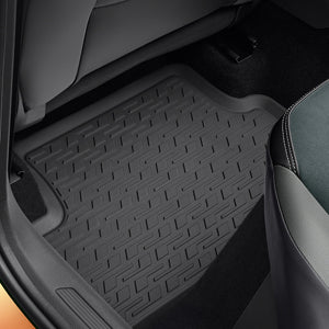 VW Rear Rubber Floor Mats - Titanium Black
