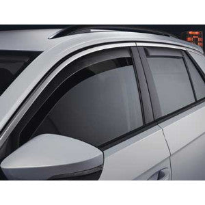 VW Rear Door Wind Deflectors - Smoke Grey