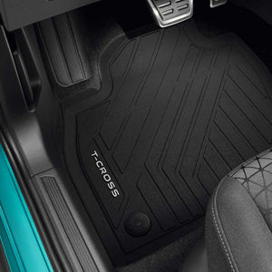 VW Rear Rubbers Floor Mats - Black