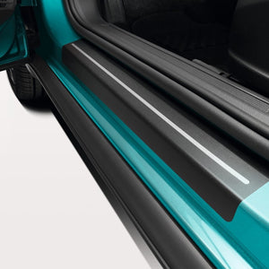 VW Door Sill Protection Film - Black/Silver