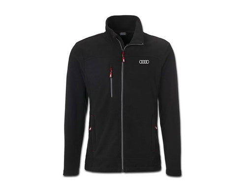 Audi Men's Black Fleece Jacket