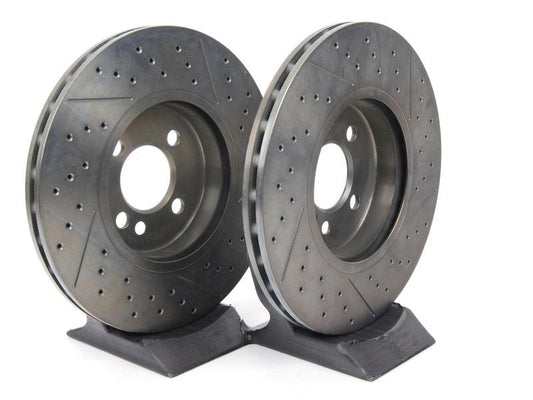 MINI Genuine JCW 16'' Sport Brake Ventilated Perforated Disc Front