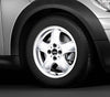 "MINI Genuine 15"" Inch Light Alloy Wheel 5-Star Spooler R100 White"
