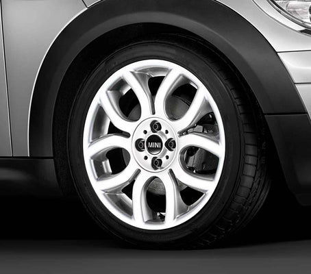 "MINI Genuine 17"" Inch Light Alloy Wheel Flame-Spoke R97 White"