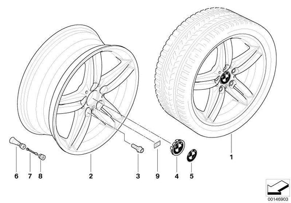 BMW Genuine Light Alloy Wheel Rim 8Jx18 ET49