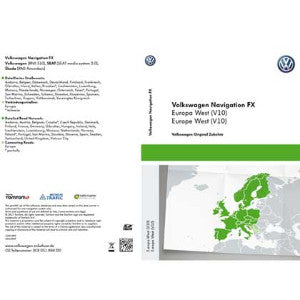 VW SAT NAV Map Update - RNS310 FX - Western Europe (V10) SD-Card