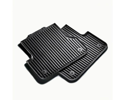 Audi Rear Rubber Car Mats for Audi A4 Models - black
