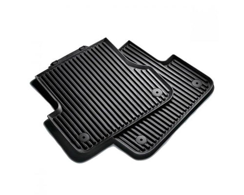 Audi Rear Rubber Car Mats for Audi A8 Models 2010-2014 - black