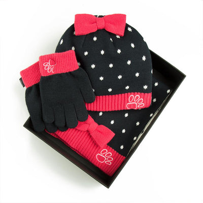 Jaguar Children's Hat, Scarf and Gloves Set - Navy