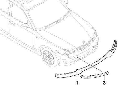 BMW Genuine Front Right Bumper Panel Protector Trim