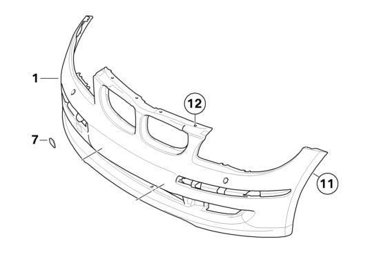 BMW Genuine Front Bumper Towing Eye Cover Primed