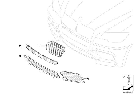 BMW Genuine Front Right Lower Bumper Grille Grid
