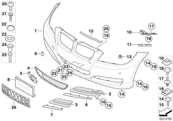 BMW Genuine Front Bumper Towing Eye Flap Tow Hook Cover Primed