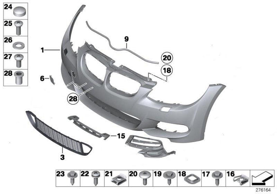BMW Genuine Front Bumper M Towing Eye Flap Primed