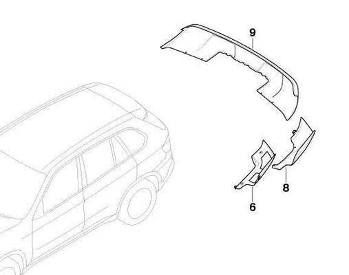 BMW Genuine Rear Bumper Left Side Section Panel Trim